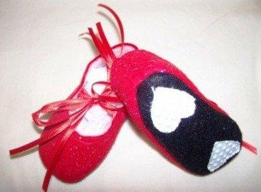 Red Glittrer Shoes Bottom